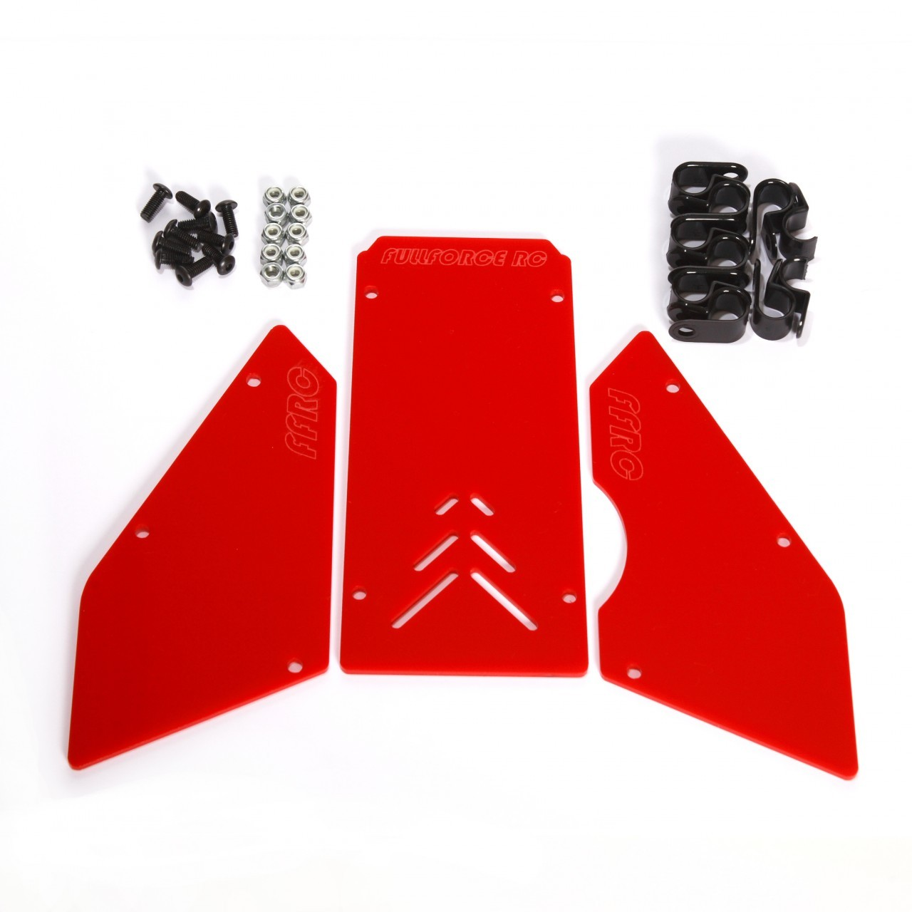 Front Windows Set RED for Baja 5B by FullForce