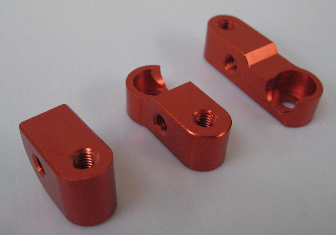 Baja Chassis Mounts Billet Orange by F5M 85215