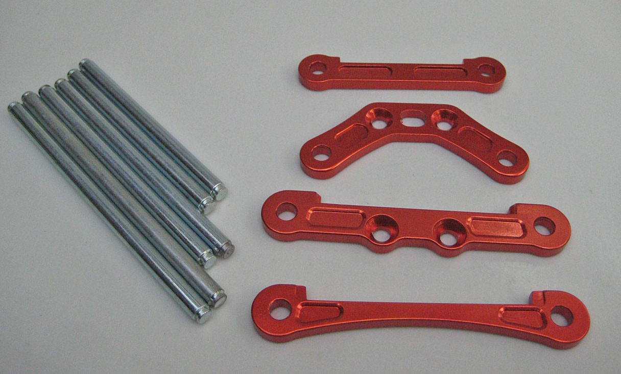 Chassis Brace Hinge Pin Set Alloy 5mm Front&Rear Orange