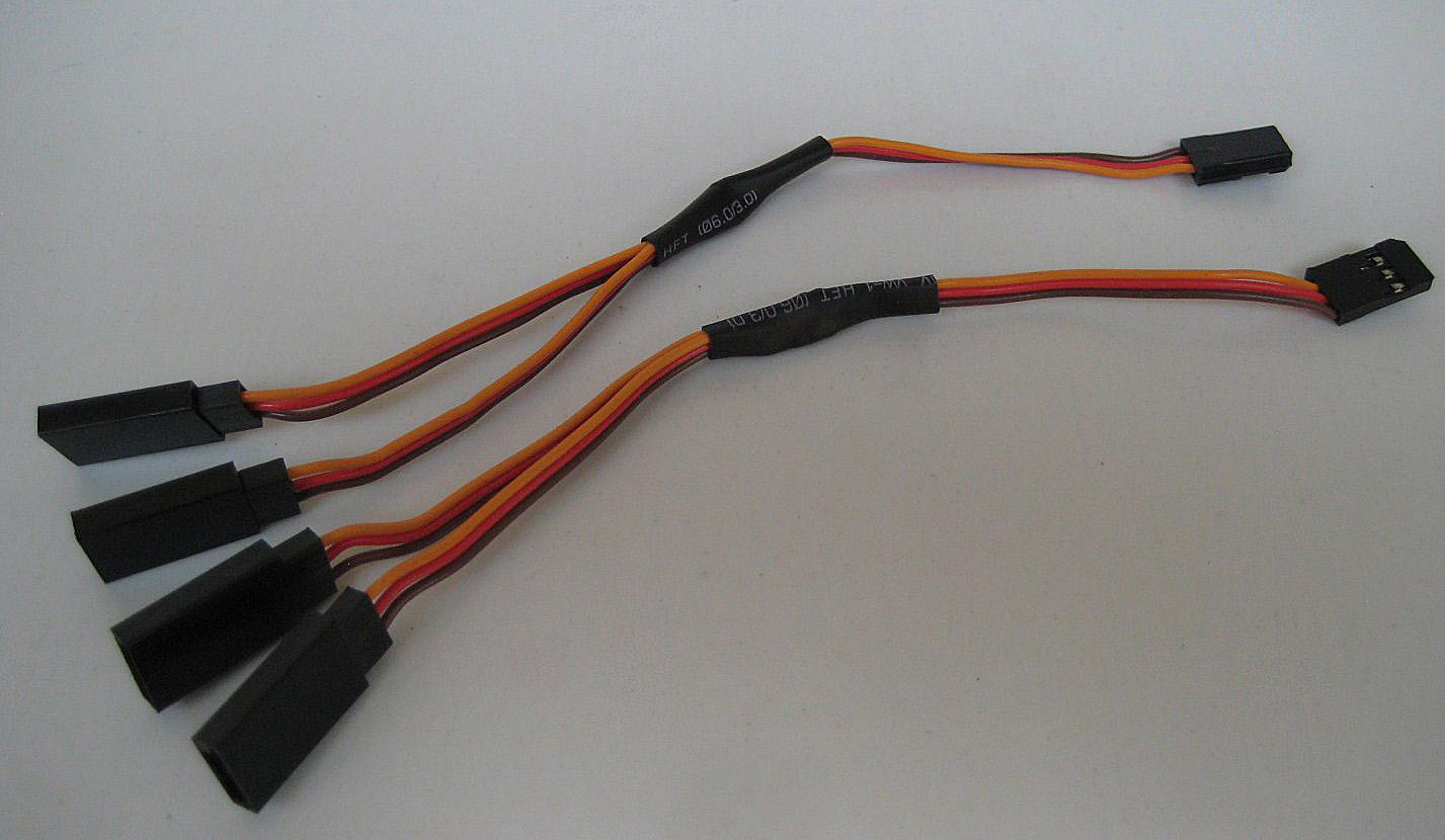 2 way Splitter Cable x 2x150mm lg F5M