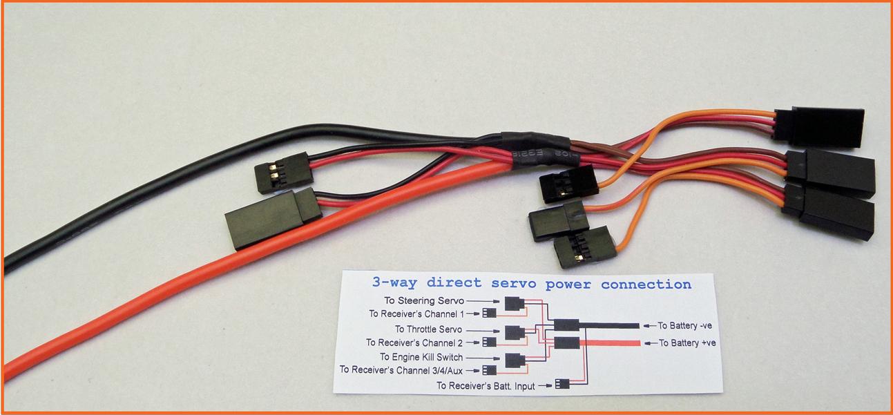1/5 RC Direct Power Servo Harness 3 servos OZ Made