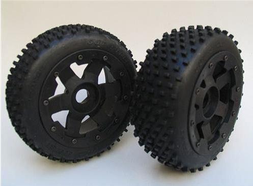 Baja Front Mini MX Tyres on Super Six Wheels