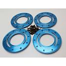 Alloy HD Beadlocks & Screws Blue x 4 Baja & LT 2
