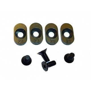 Losi 5ive Engine Mount Inserts for 21T pinion (4) by Vertigo
