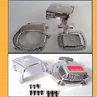 Chrome Engine ,Pull Start & Fancover Set F5M 85108
