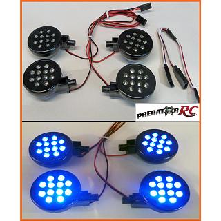 Baja 5T Lights Set PODS & LED,s 4pce BLUE LED