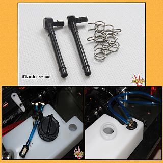 High Flow Fuel Line Fittings & Clips  Black