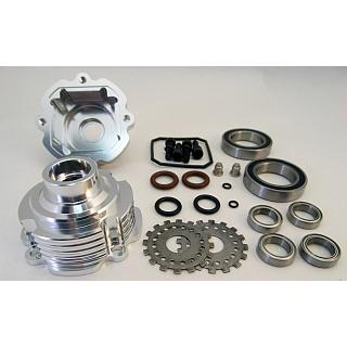 Baja Diff Rebuild CNC Housing Billet & Bearings Kit Silver 85119