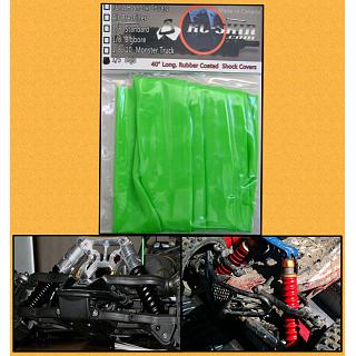 RC Skin Shock Covers Green Neon