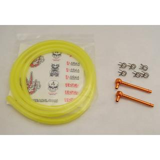 High Flow Fuel Line Kit Lemon Yellow Fuel Line