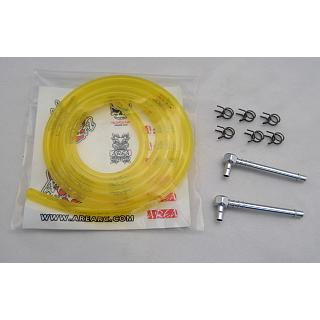 High Flow Fuel Line Kit  Alloy & Yellow Fuel Line