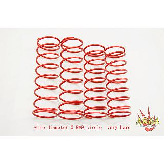 Losi 5IVE Hard Shock Spring Set (4) by Area RC 2.8x9 RED