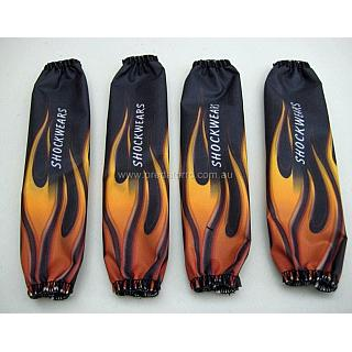 Baja Shockwears Shock Covers 1/5 Black Flame 24