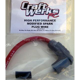 Craftwerks MSD Spark Plug & Boot Lead set Red Made In USA