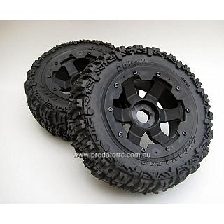 Baja 5T SC Losi T FRONT Wheels & Trencher Style Tyres Vekta 9507