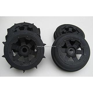 5B Sand Paddle Tyres & Wheel Set Front  & Rear Set on Super Six