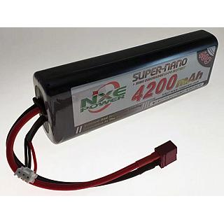 NXE 7.4V 4200mAh 40C Round Hard Case Lipo Battery Deans Connec