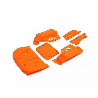 Big Flex Body Panels Orange 6pce fit Losi 5iveT KM X2 D