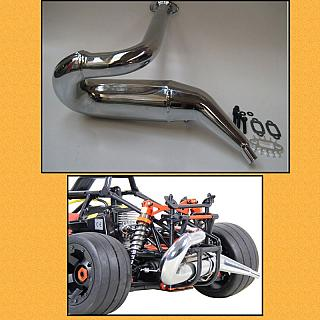 Baja 5FC Tuned Pipe Chrome 5B 5T