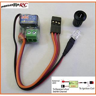 1/5 RC 3 & 4Ch Petrol Kill Switch with LED Made in OZ 5GK
