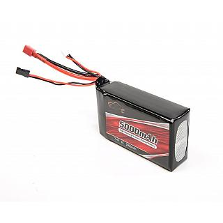LT 5ive Lipo Battery 5000mAh 7.4v-5C RX Pack DTT X2 Losi