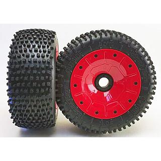 30°N Speedway Tyres & Wheels  (2)Red fit F/R Losi Vekta DTT LT X
