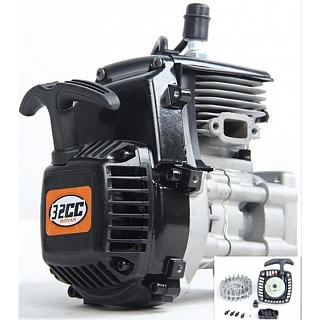 R320 Engine 32cc Big Bore 38mm 4bolt Easy Start 813 Walbro NGK P