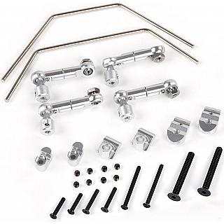 Baja Complete CNC Sway Bar & Linkage Set Front Rear Silver