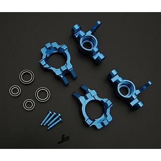 LT 5ive Alloy Front Steering Hub, C Bock & Bearings Kit Blue