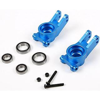 Rovan LT Rear Hubs CNC Complete with Bearings Blue