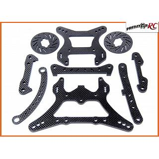 LT & Losi Carbon Fibre Chassis Parts Set