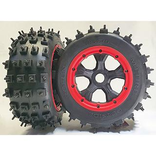 LT 5ive Spike Knobby Tyres & Wheels (2) 185 x 70mm