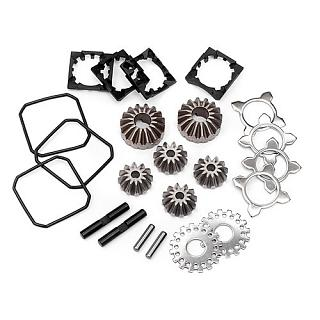 HPI Alloy Diff rebuild Kit Steel Bevel Gear set # 87567