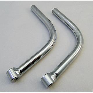 Baja Steel Rear Bumper Rails Chrome