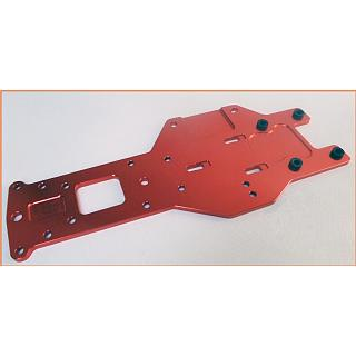 Baja Rear Lower Chassis Plate HD 5mm 6061 Orange 95140