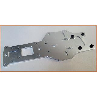 Baja Rear Lower Chassis Plate HD 5mm 6061 Silver 95140