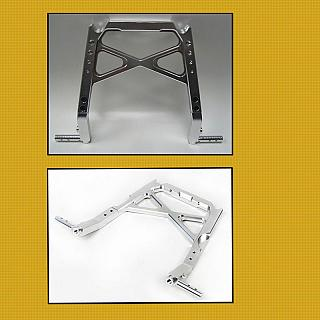 Roll Cage Main Centre Support Bar ALLOY Silver 95199