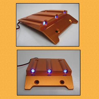 Baja Lighted Roof Scoop with 3 LED Lights Alloy Orange F5M