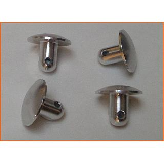 Baja Lower Body Pod Pins (4) CNC Silver