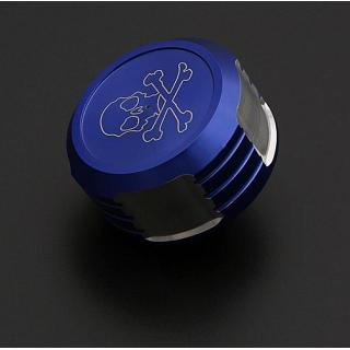 Rovan LT & Baja Gas Cap & Seals Alloy Skulls Blue