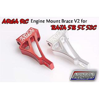 Engine Mount Brace Billet V2 3 bolt Area RC Silver