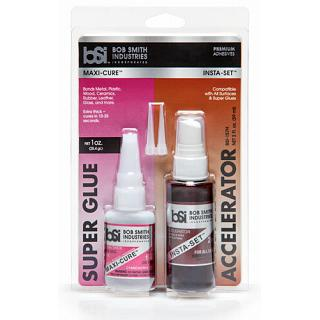 BSI BSI Super Glue & Accelerator Maxi Cure Hobby Craft  Metal Wo