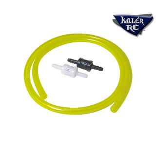 Fuel Line with Quik Disconect Tygon by Killer RC yellow