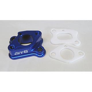 Carby Intake Manifold Block Blue Alloy  by GTB Racing GR030