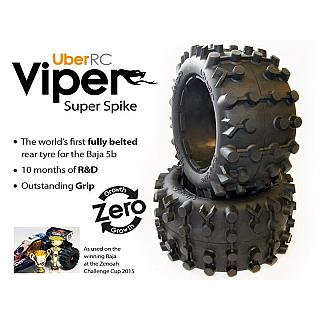 Viper Rear Super Spike Tyres by UBER RC fit Baja 5B