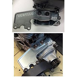 Centre Diff mesh plate for Losi 5ive T by Vertigo Silver