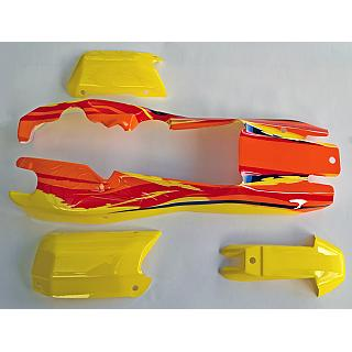 5B Baja Body Orange /Yellow Poly Carbonate