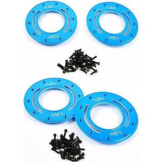 Alloy HD Beadlocks & Screws Blue x 4 Baja & LT