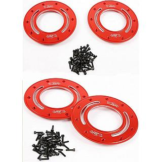Alloy HD Beadlocks & Screws Red x 4 Baja & LT