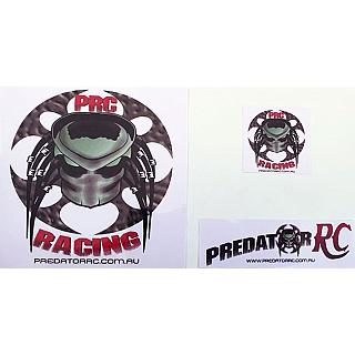 Predator RC Decals Sticker 3pce set